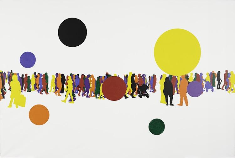 Peinture-Monde, Blanc de titane 2015, Collection Leïla Voight, © Gérard Fromanger 2016, © Collection Centre Pompidou/Dist. RMN-GP, photo Bertrand Prévost