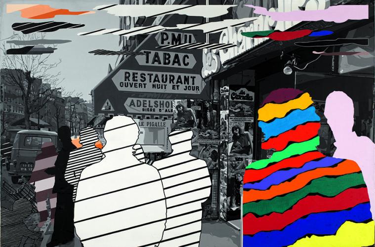 Hommage à Topino-Lebrun 1975-1977, Centre Pompidou, Paris, © Gérard Fromanger 2016, © Collection Centre Pompidou/Dist. RMN-GP, photo Philippe Migeat