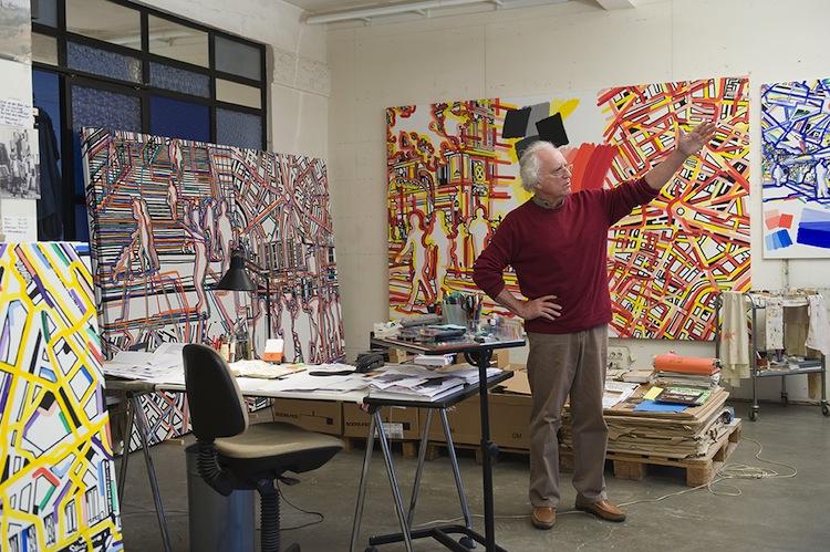 Atelier de Gérard Fromanger, Paris, vendredi 14 novembre 2008, © Centre Pompidou, Bibliothèque Kandinsky