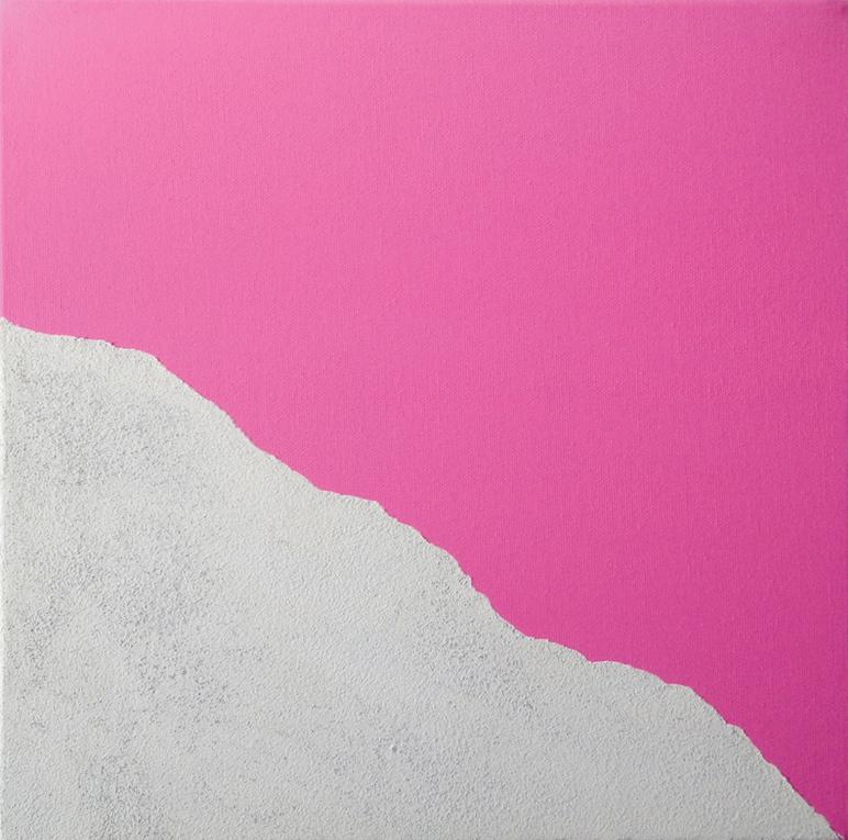 Vittorio Asteriti, paesaggio, d-n3, tecnica mista su tela_30x30 cm