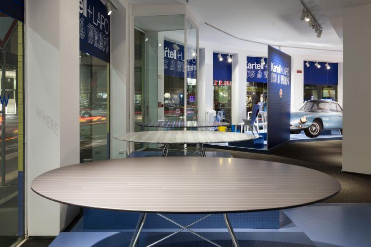 Kartell + Lapo. It's a wrap, Flagship store, Via Turati, Milano. Fuorisalone 2016