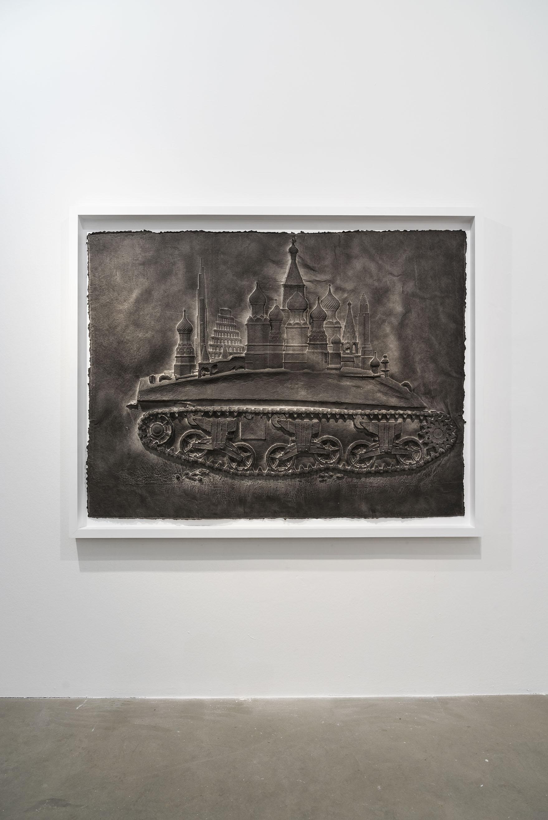 Qiu Zhijie, The Expansion 2015, carta lavorata in rilievo, inchiostro di china, 134 x 176 cm