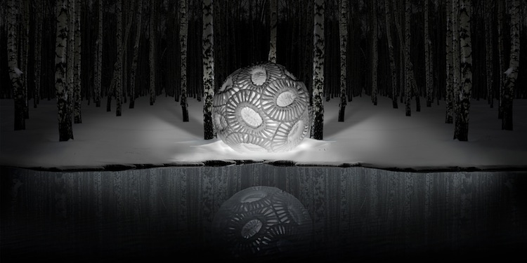 Aqua Aura, Naked singularity, 2015, stampa digitale su carta cotone Hahnemuehle, montata su alluminio, cornice floccata, 88x172x8 cm