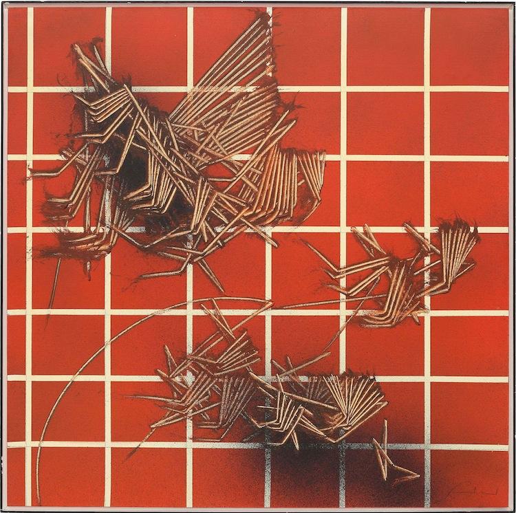 Emilio Scanavino, Tramatura, 1979, olio su tela, 80x80 cm