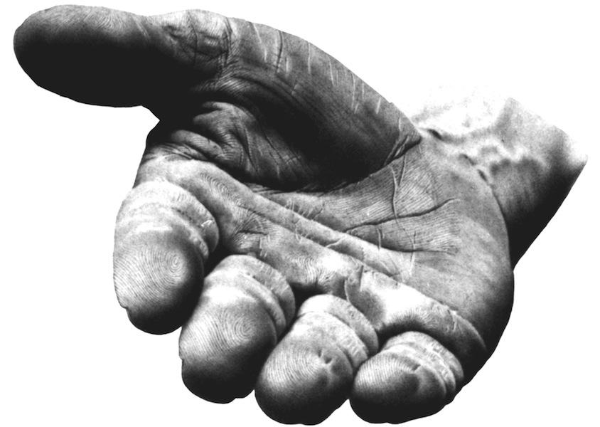 Giovanni Anselmo, Mano che indica, 1981