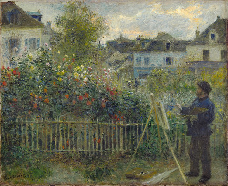 Pierre Auguste Renoir, Claude Monet Painting in His Garden at Argenteuil, 1873