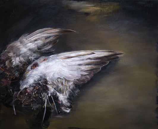 Pietro Geranzani, Damp Mop, 2015, olio su tela cm 150 x 180-