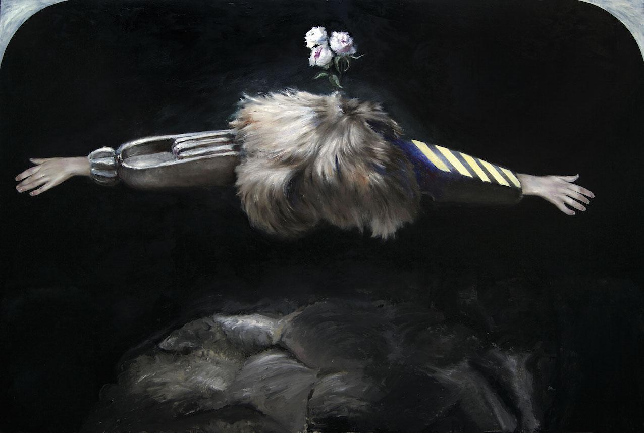 Pietro Geranzani, Soul Sacrifice, 2010, olio su tela cm 200 x 300