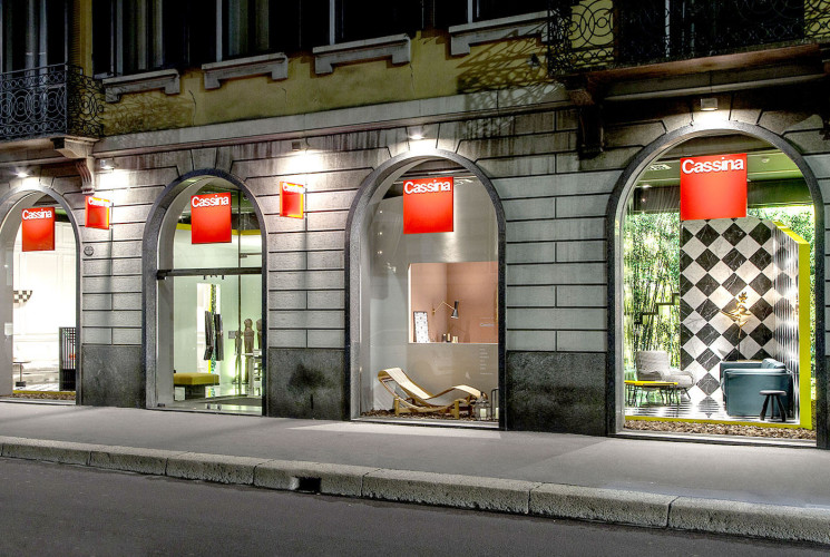 Showroom Cassina, Via Durini, Milano