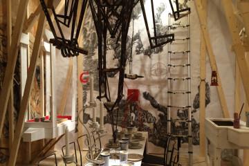"""Duilio Forte. Veduta della sua """"stanza"""" in mostra alla Triennale di Milano"""