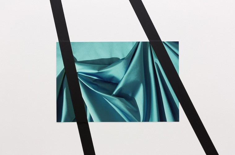 Elisa Sighicelli, Untitled (1517), 2014, pigment print on archival paper with UV seal and gaffer tape, 35.8 X 54.7 cm