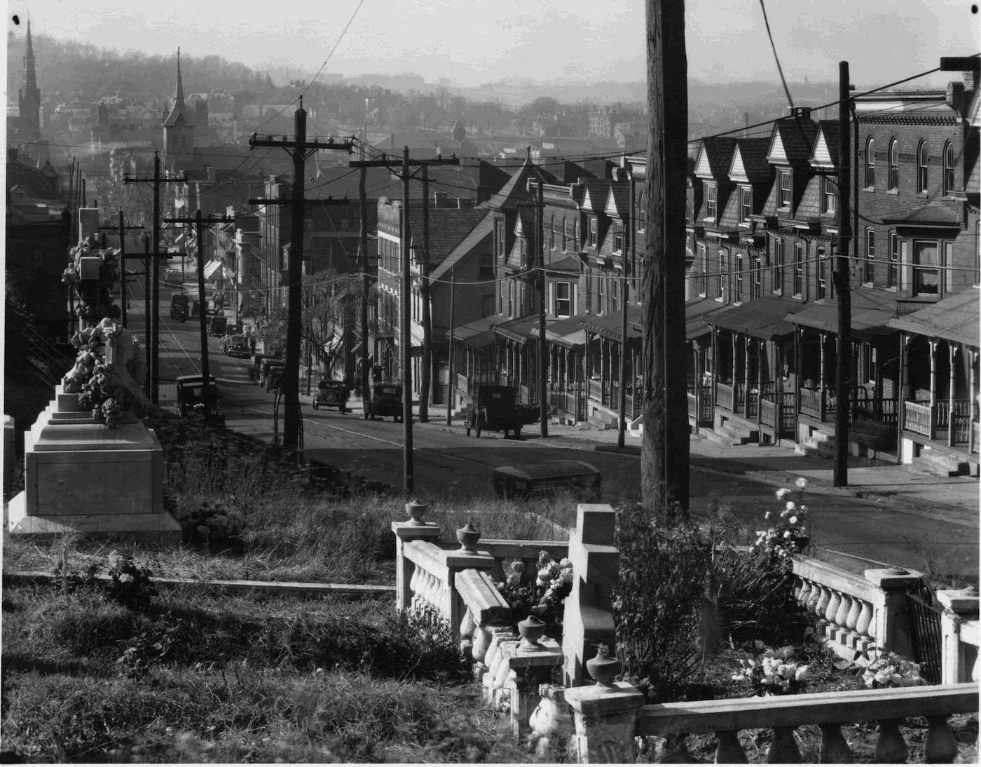 Walker Evans Street in Bethlehem, Penn. Data: 1935 Data stampa: 1972 CSAC, Università di Parma, Sezione Fotografia © Walker Evans Archive, The Metropolitan Museum of Art, New York.
