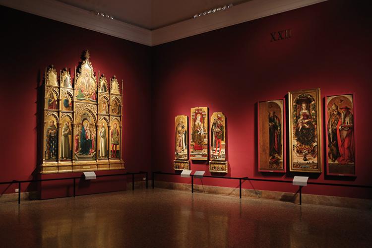 Pinacoteca di Brera, il nuovo allestimento della sala XXII dedicata ai polittici marchigiani del XV secolo