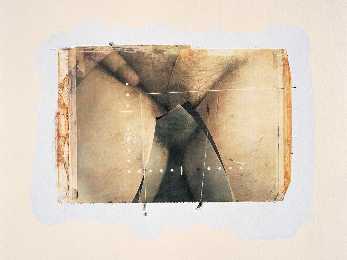 Paolo Gioli, Autoanatomie (Self-Anatomies), 1987, Polaroid on silk, acrylic, pencil, paper