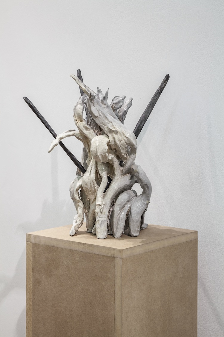 Francesco Simeti, The Wilds VI, 2015, soda fire and glaze ceramic, 41x30x30 cm