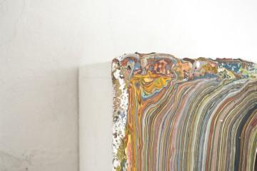 Diego Soldà, Archivio (2, 3), 2016, tempera a strati su legno (particolare)