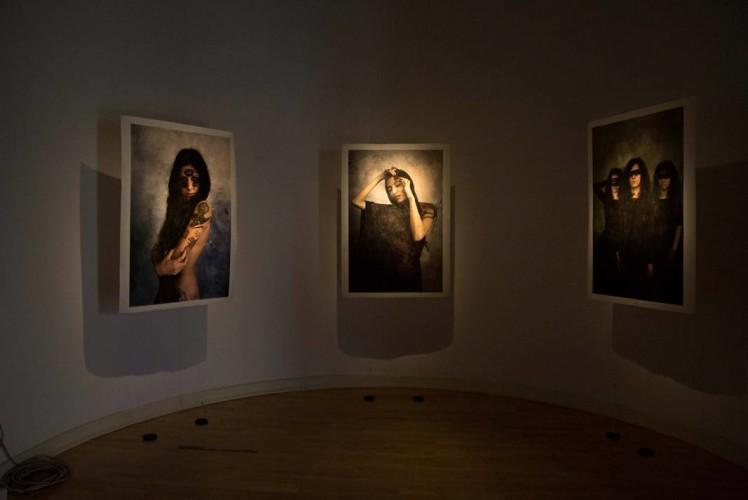 Veduta della mostra Opus di C99, Erresullaluna e Chuli Paquin, Galleria San Ludovico. Courtesy Ph. Federico Avanzini