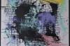 Alessandro Pizzo, Dopo i Percorsi Liquidi 3, 2013, smalto su tela, cm 100x100