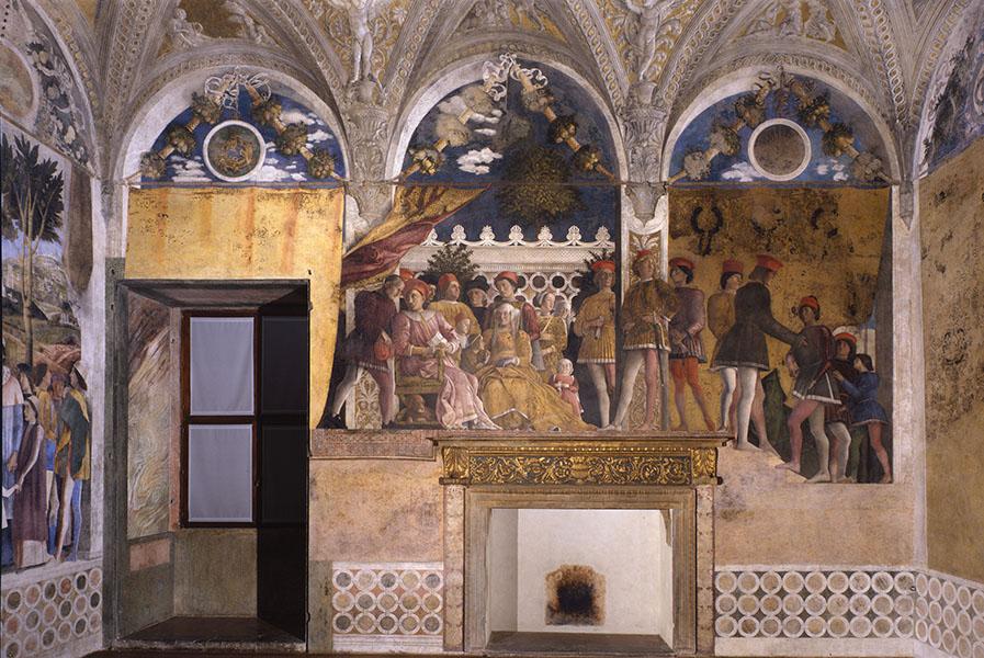 Andrea Mantegna, Camera degli Sposi, parete della Corte