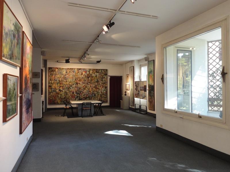 Veduta della sala al primo piano, Fondazione Corrente, Milano