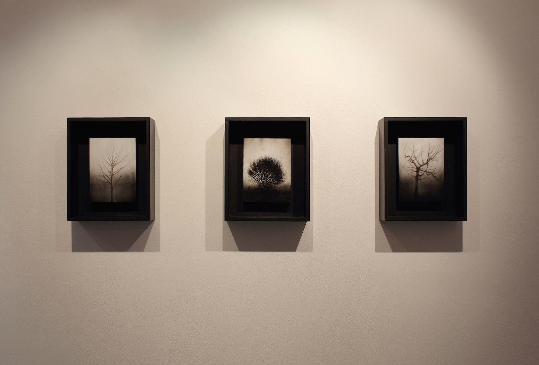 Ettore Frani, Requiem, veduta della mostra presso L'Ariete arte contemporanea. Foto: Paola Feraiorni