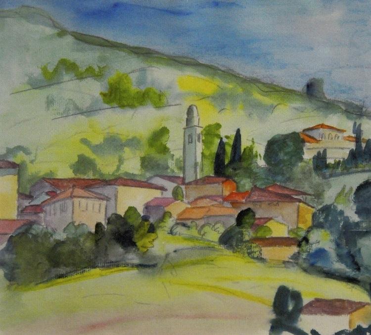 Hermann Hesse, Senza titolo, acquerello su carta Foto Fondazione Hermann Geiger