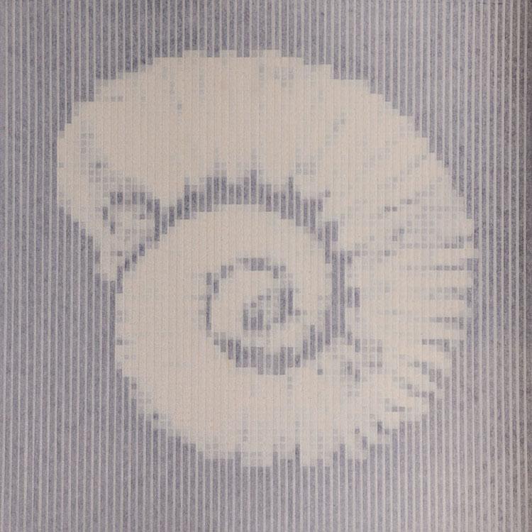 Giorgio Tentolini, Nautilus, 2016, nastro di carta su plexiglass, cm 100x100