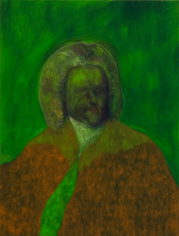 Lorenzo Aceto, Ciao Bach, 2016, olio su tela, courtesy dell'artista