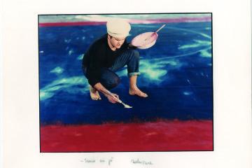 Luigi Ghirri, dal menabò per il sipario del Teatro Valli dipinto da Omar Galliani, Reggio Emilia, 1991