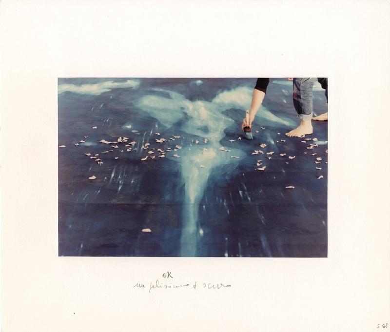 Luigi_Ghirri, dal_menabò per il sipario del Teatro Valli dipinto da Omar Galliani, Reggio Emilia 1991