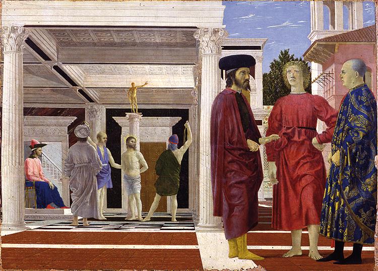 Piero della Francesca, Flagellazione, Galleria Nazionale delle Marche - foto d'archivio