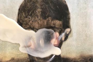 Guglielmo Castelli, Carbone, 2016,  pastelli ad olio e cera su carta, cm 21x29,7. Courtesy: Francesca Antonini Arte Contemporanea