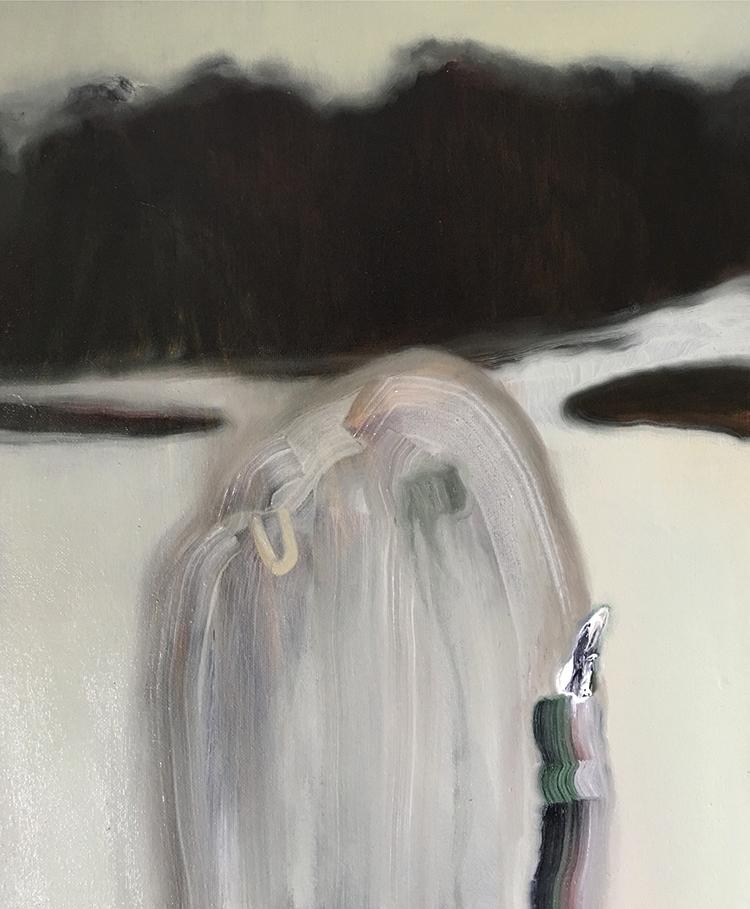 Guglielmo Castelli, Rebel, Rebel, 2016, olio su tela, cm 30x25. Courtesy: Francesca Antonini Arte Contemporanea