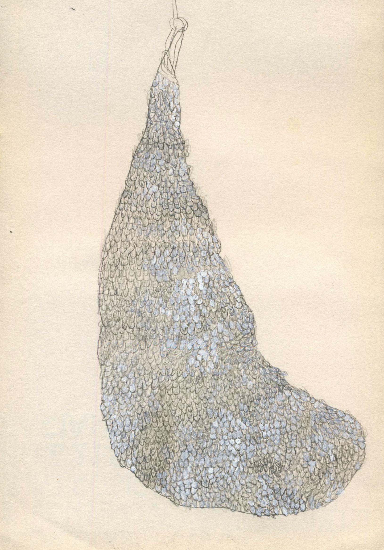 Marta Scanu, disegno, 2014, grafite e tempera su carta, 21 x 14 cm