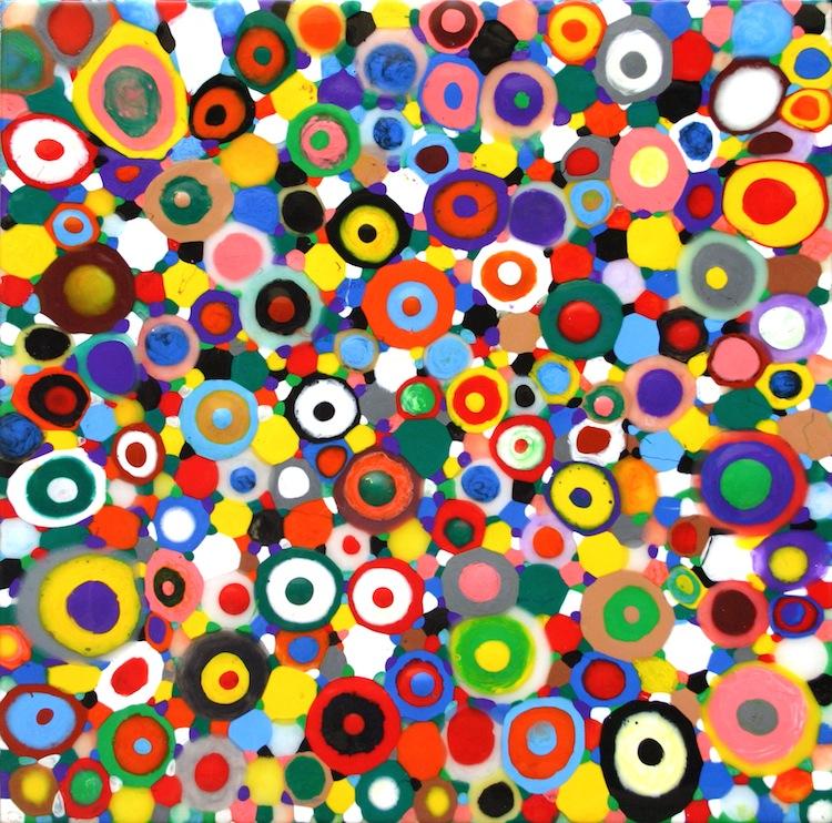 Davide Nido, Coriandoli in amore, 2010, colle su tela, 100x90 cm Courtesy Galleria Blu, Milano