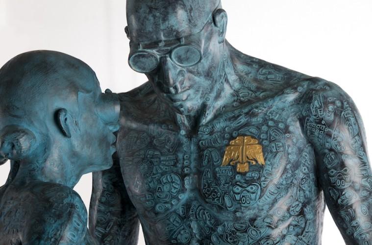 Emanuele Giannelli, Haida, 2009, resina, 182x80x80 cm Foto Gabriele Ancillotti