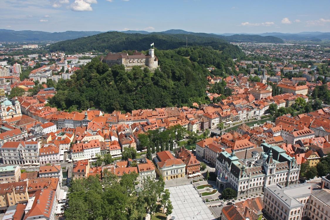 Veduta panoramica di Lubiana. Foto P.Hieng