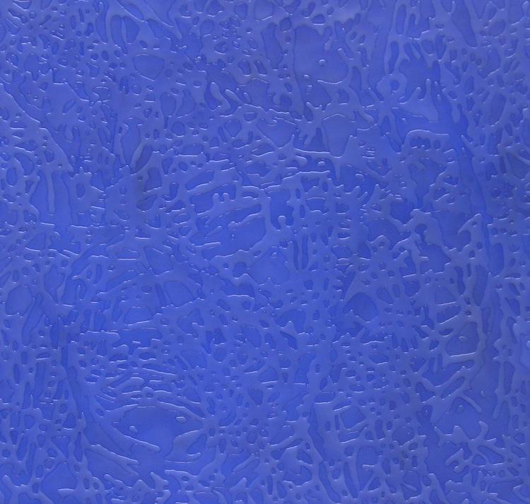 Davide Nido, Fluido Blu, 2003, colle su tela, 150x160 cm Courtesy Galleria Blu, Milano