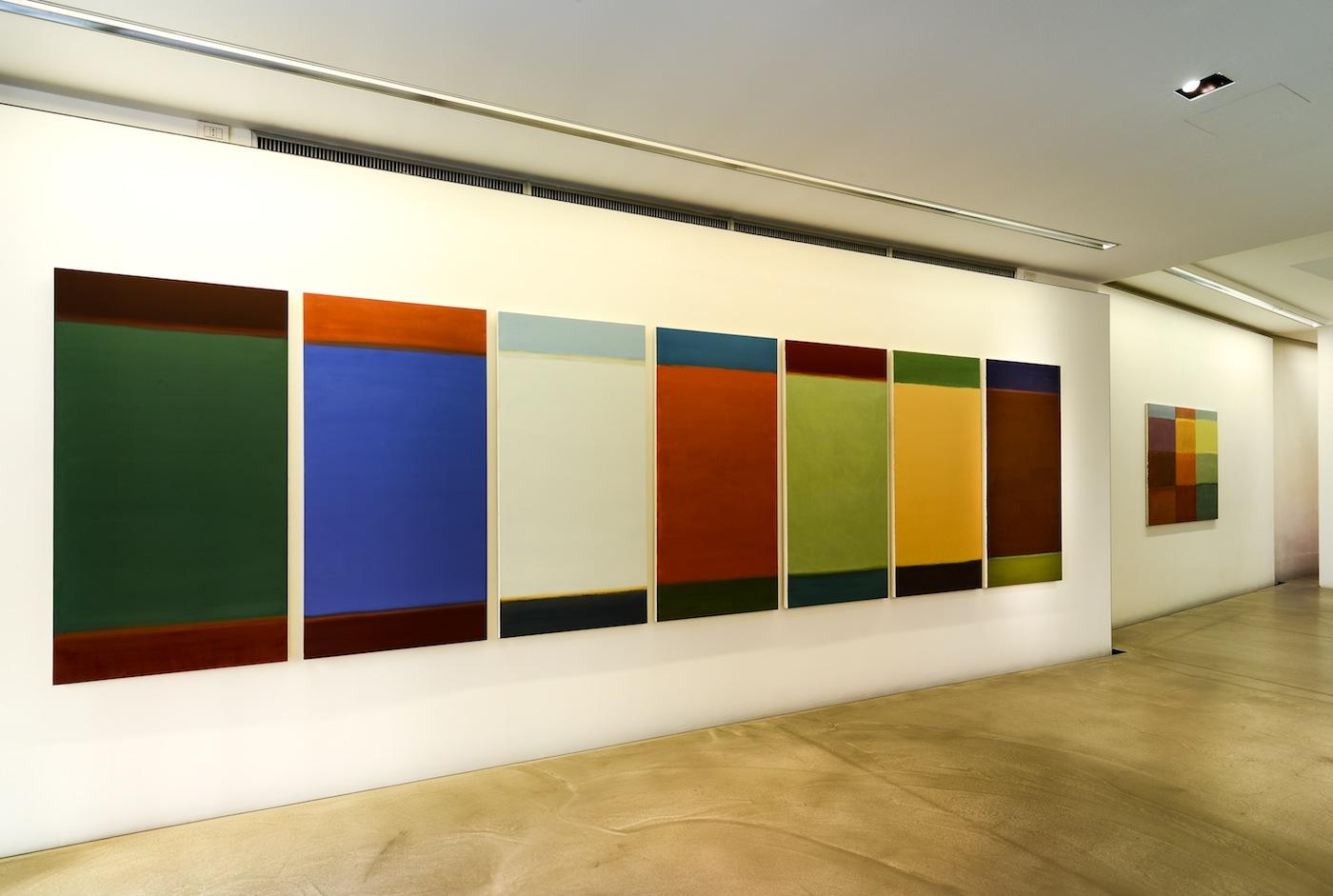 Veduta della mostra Nataly Maier, Tonalità elettive. Courtesy Antonella Cattani contemporary art