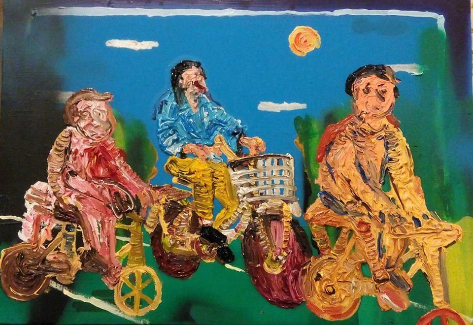 """Dario Molinaro """"Why is it always this way"""" - mista su tela, cm 50x35_ anno 2016 Courtesy Ateliermultimedia Galerie, Vienna"""
