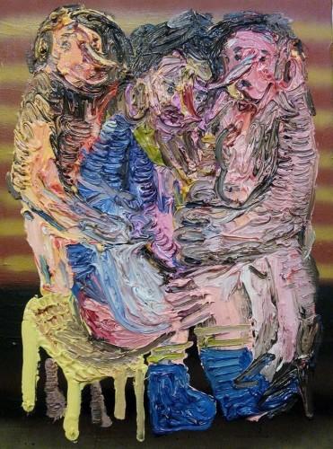 """Dario Molinaro """"affanno glorioso"""" - mista su tela, cm 30x40_ anno 2016 Courtesy Ateliermultimedia Galerie Vienna"""