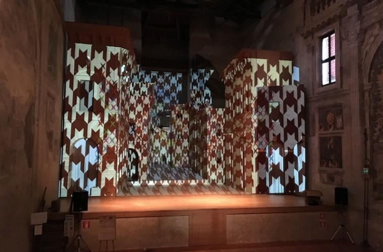 Vincenzo Marsiglia. Dopo-Logica/o, veduta del palco, Teatro all'Antica, Sabbioneta (MN)