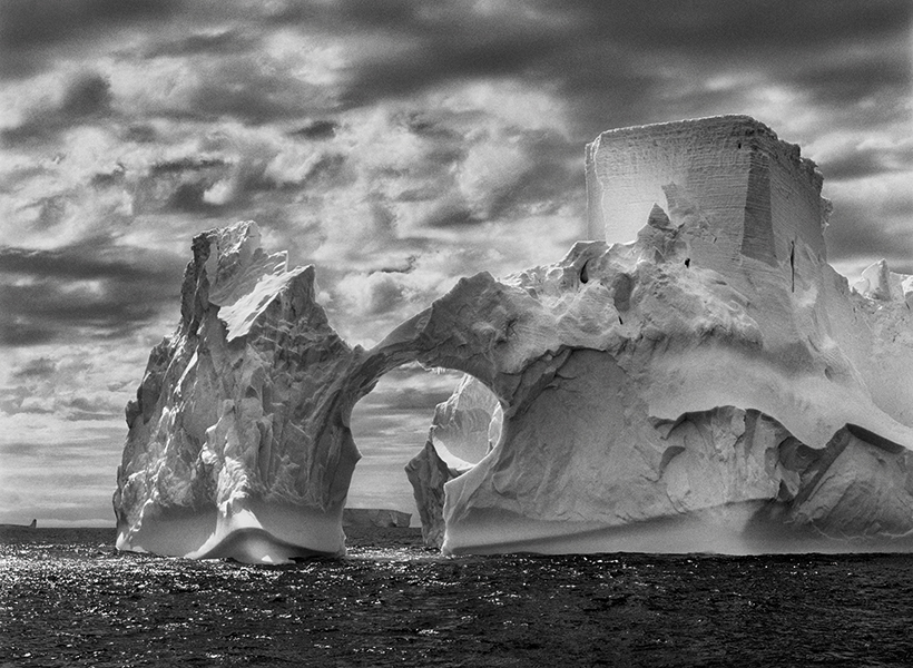 Sebastião Salgado, Planet South, Iceberg between Paulet Island and the South Shetland Islands in the Weddell Sea. Antarctic Peninsula. 2005. ©Sebastião Salgado. Amazonas Images