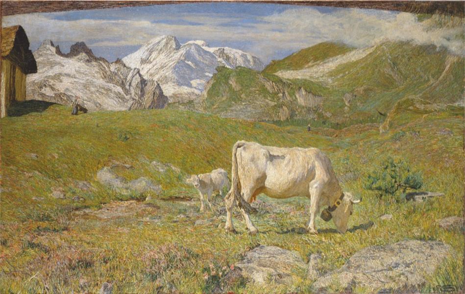 Giovanni Segantini, Pascoli di Primavera, 1986, Pinacoteca di Brera, Milano
