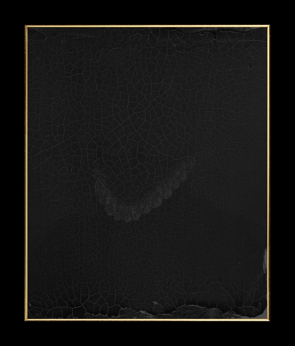 Lamberto Teotino, Mary Shelley stampa archival ai pigmenti, carta cotone hahnemuhle montata su dibond con cornice in foglia d'oro 66.5x80