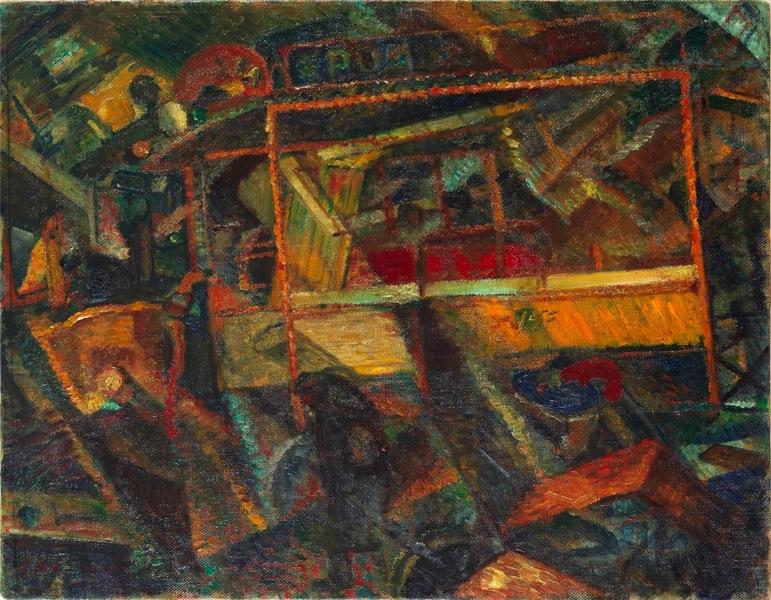 Carlo Carrà, Ciò che mi ha detto il tram, 1911, Mart, Museo di arte moderna e contemporanea di Trento e Rovereto