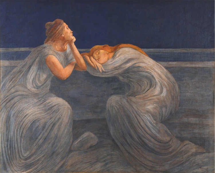 Gaetano Previati, Notturno o Il silenzio, 1908, Fondazione Il Vittoriale degli Italiani
