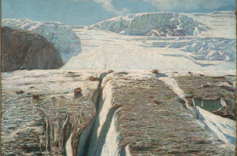 Emilio Longoni, Ghiacciaio, 1905, Collezione privata