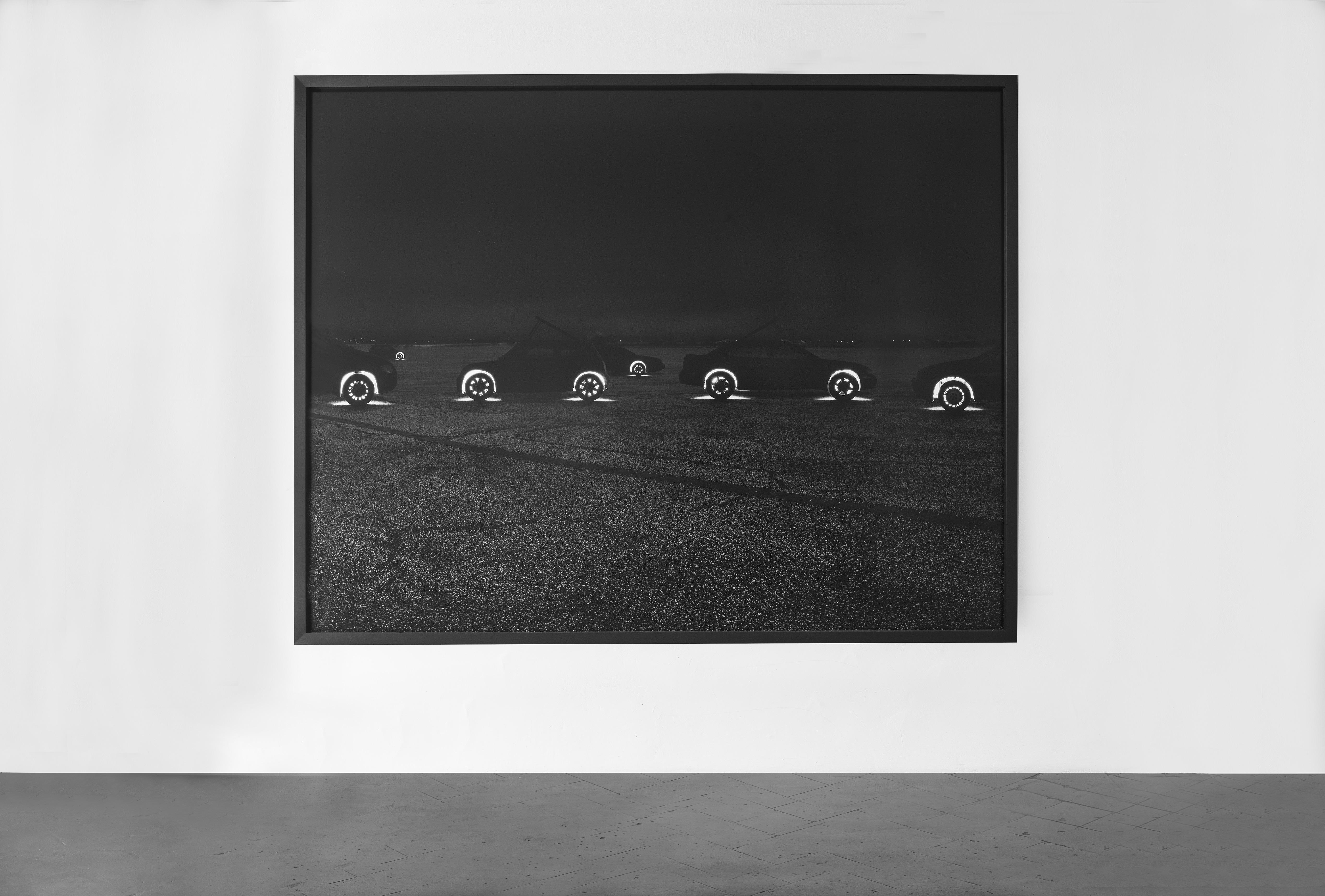 La Forma della Città, veduta della mostra. Andrea Galvani, Higgs Ocean #5, 2009 C-print su alluminio montana su dibond, cornice di legno nero 188x236x2 cm