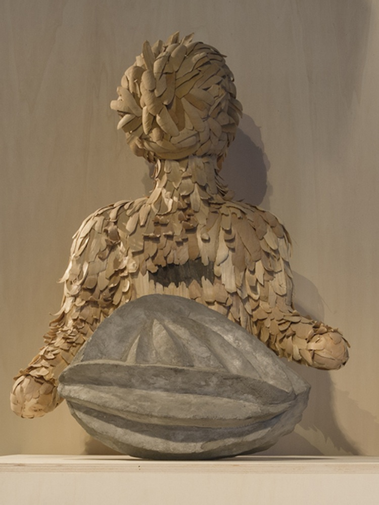Anna Hulačová, Weightlessness, 2013, mounting foam, wood, concrete, 77x61x45 and 40x28x21 cm Courtesy of Hunt Kastner, Prague Photo © Simon Perathoner